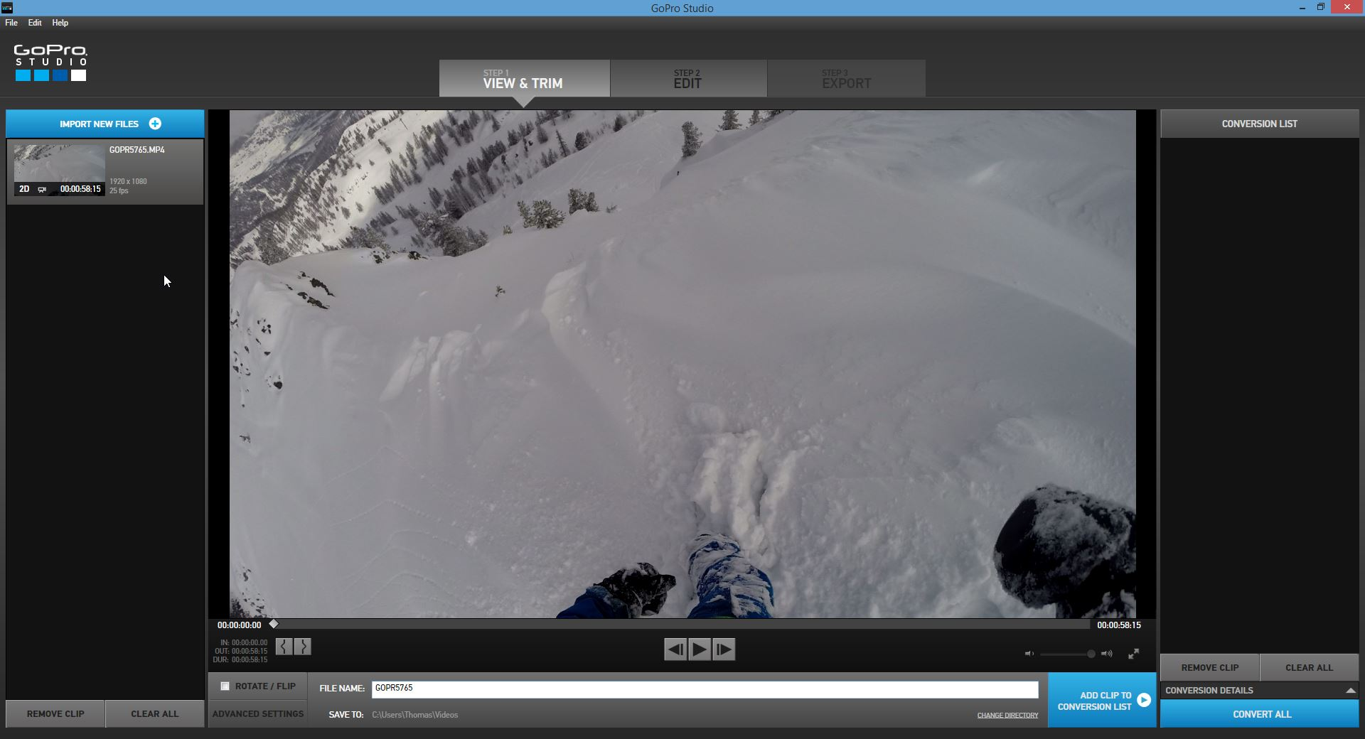 Test du logiciel de montage GoPro Studio 2.0 - studioSPORT