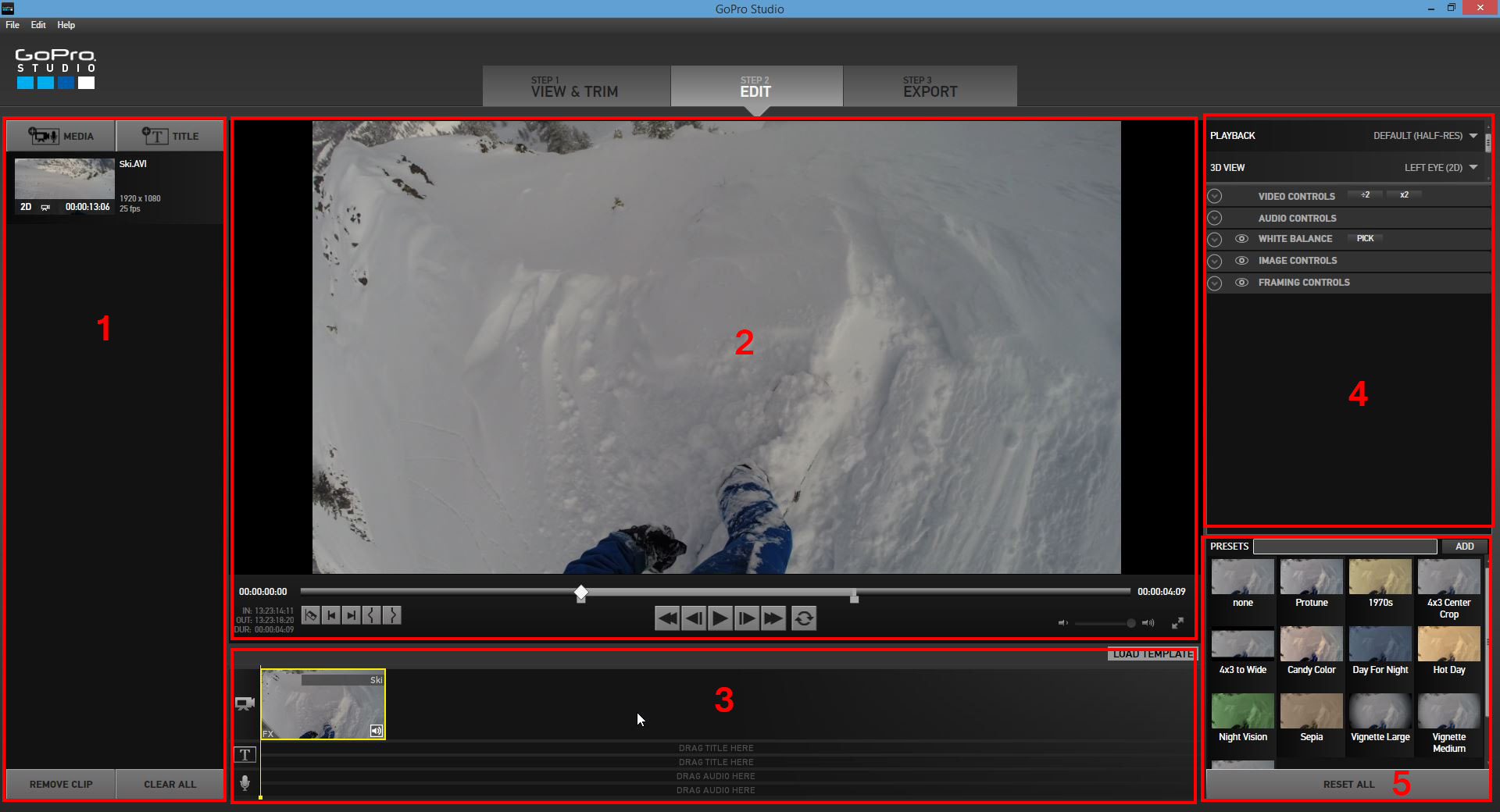 Test du logiciel de montage gopro studio 2 0 studiosport for Ecran montage video