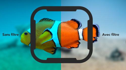 Les filtres de plongée permettent d'éviter l'excès de bleu ou de vert