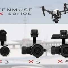 Comparatif des nouvelles nacelles caméras X5 et X5R du DJI Inspire 1