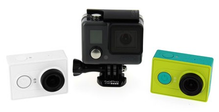 Comparatif entre Xiaomi Yi Cam et GoPro Hero