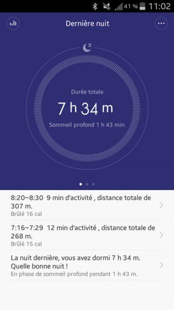 Xiaomi MiBand application Mi Fit