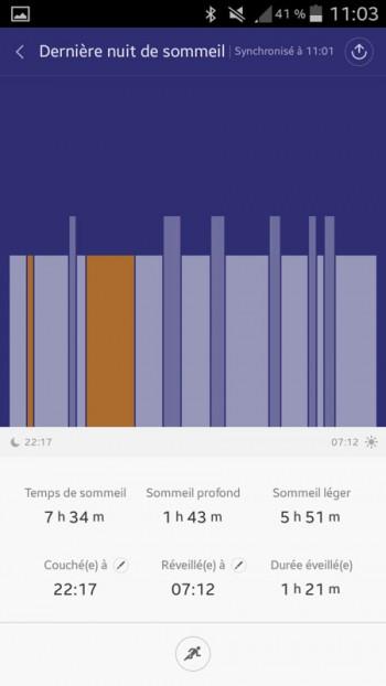 Xiaomi MiBand app Mi Fit analyse du sommeil