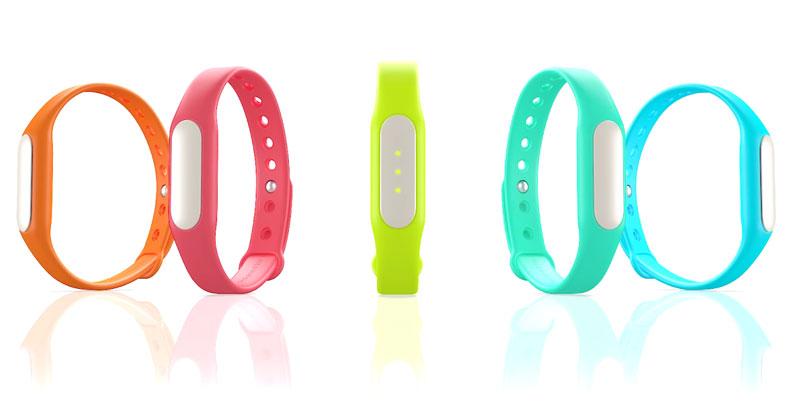 Bracelet connecté Xiaomi Mi Band avec bracelets de couleurs