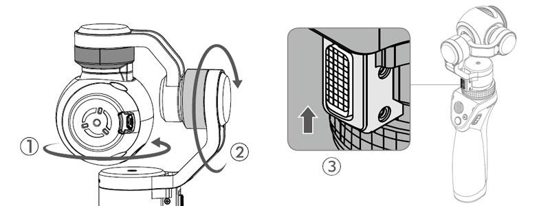Déverrouillage des moteurs du DJI Osmo