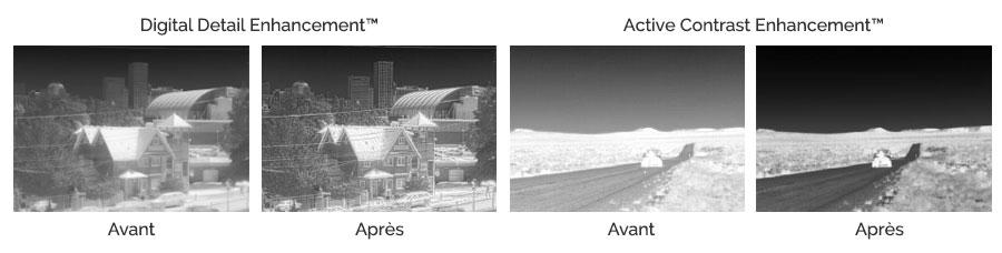 Optimisation des technologies FLIR avec amélioration des détails et amélioration des contrastes