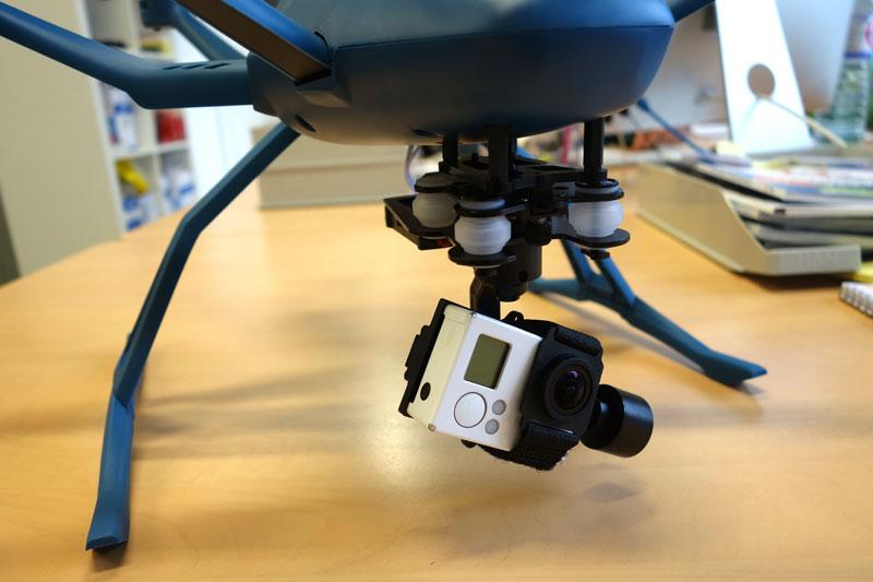 Nacelle Walkera G-3D pour embarquer une GoPro sous votre drone Hexo+