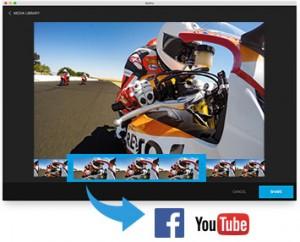 GoPro app for desktop fonction partage