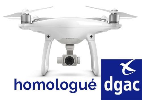 DJI Phantom 4 Homologué DGAC S1, S2 et S3