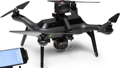 Drone 3DR Solo avec deux caméras Kodak SP360 4K