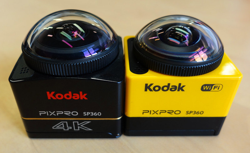 Deux versions avec des résolutions maximales différentes. KODAK SP360 face à la SP360 4K.