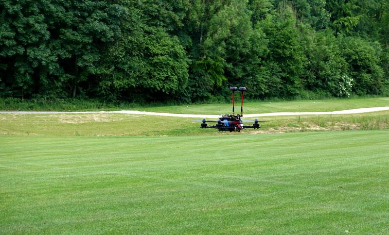 Drone racer équipé du Amimon Connex ProSight HD