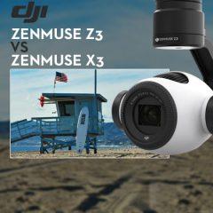 Comparatif DJI Zenmuse Z3 et DJI Zenmuse X3
