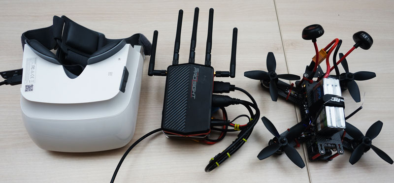 Yuneec Skyview, Amimon Connex Prosight et drone racer 2
