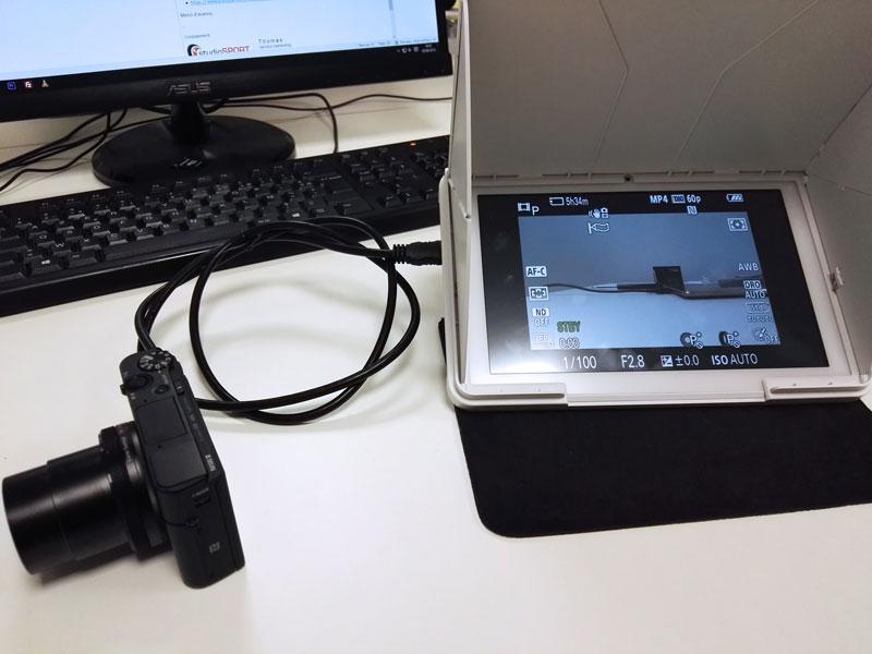 Utilisation d'une tablette FlySight avec un Sony RX100