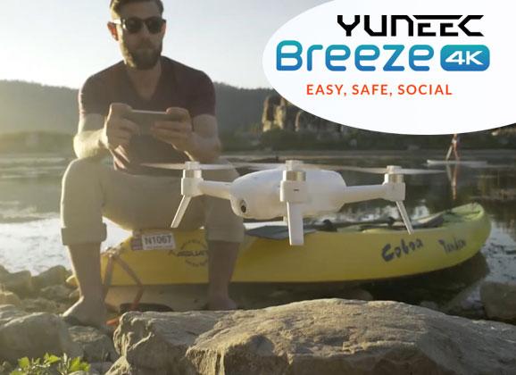yuneec breeze un nouveau drone compact d di aux prises de vues studiosport. Black Bedroom Furniture Sets. Home Design Ideas