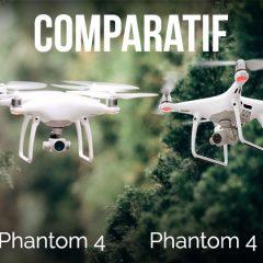 DJI Phantom 4 Pro VS DJI Phantom 4 comparatif des caractéristiques