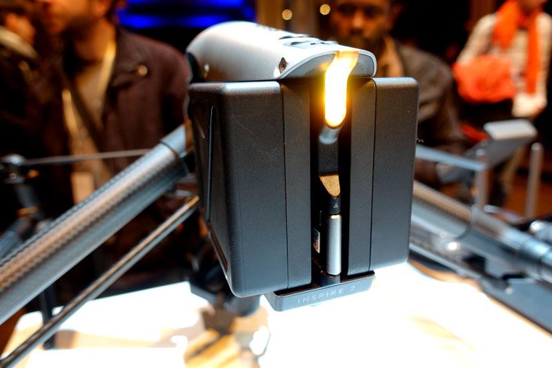 DJI Inspire 2 batteries et disque du SSD