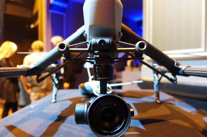 Système de détection d'obstacles et caméra FPV du DJI Inspire 2