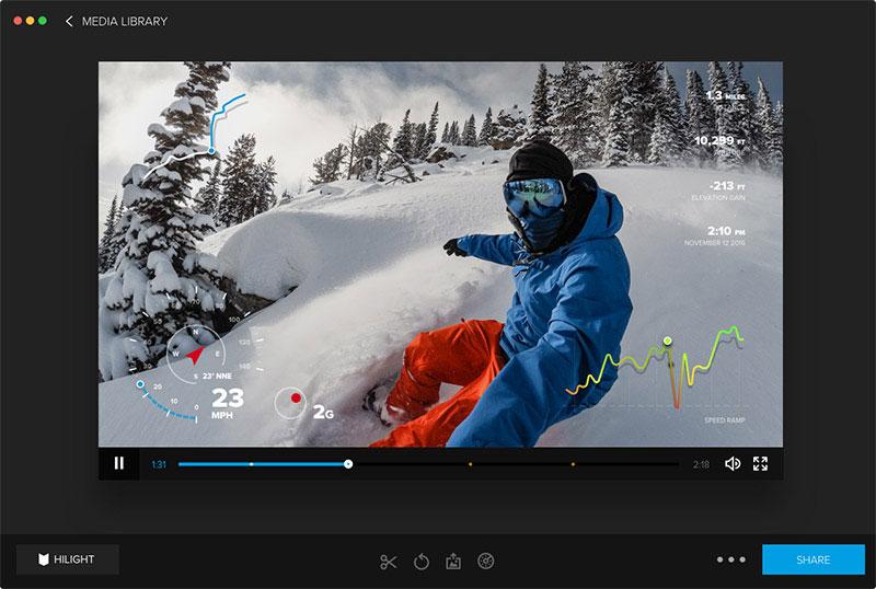 Affichage vitesse et altitude sur GoPro Hero5 Black