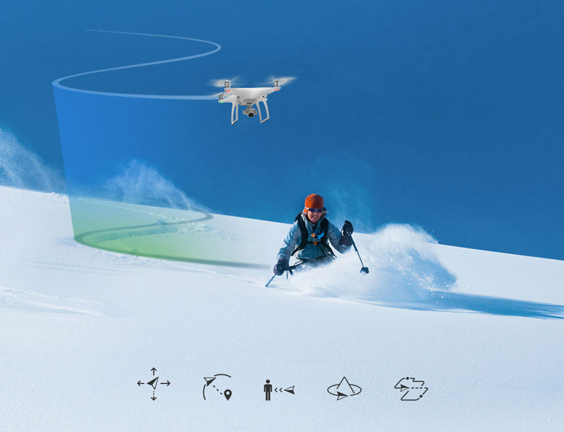 Utilisation des modes intelligents sur l'application DJI GO