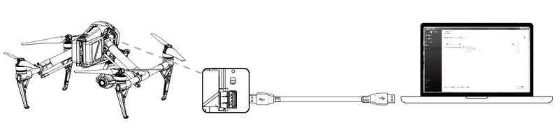 Connexion entre l'Inspire 2 avec le logiciel Assistant 2