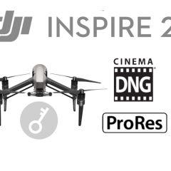 Activer les clés de licence CinemaDNG et Apple ProRes pour DJI Inspire 2