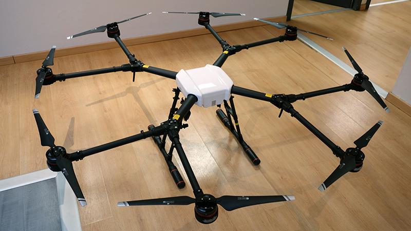 Drone Agras MG 1S vue de haut