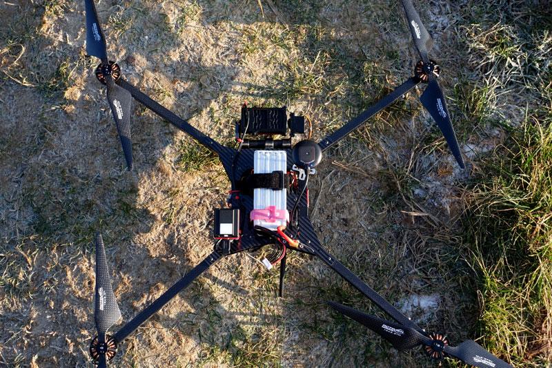 Test du drone FX1 avec son capteur multispectral Parrot Sequoia