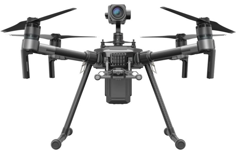 DJI Matrice 210 avec caméra sur le dessus