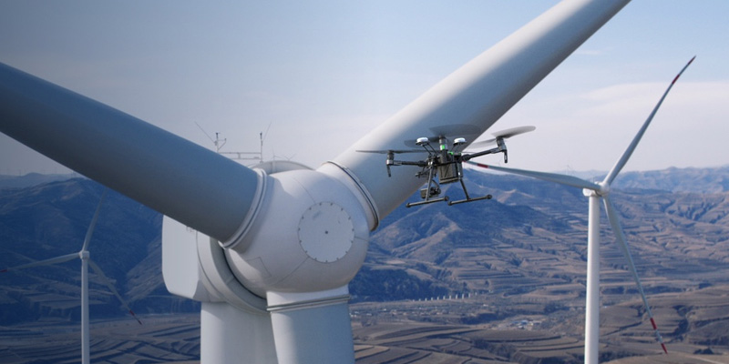 DJI Matrice 210 RTK inspection d'éoliennes