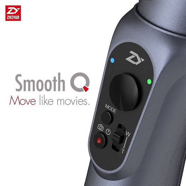 Zhiyun Smooth Q boutons intégrés dans la poignée