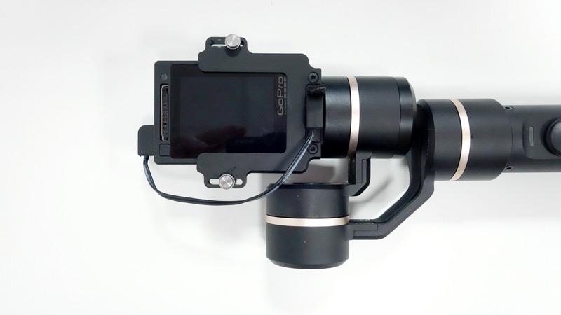 Chargement de la GoPro sur Feiyu G5