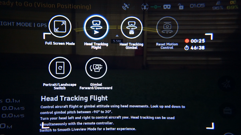Mode Head Tracking Flight