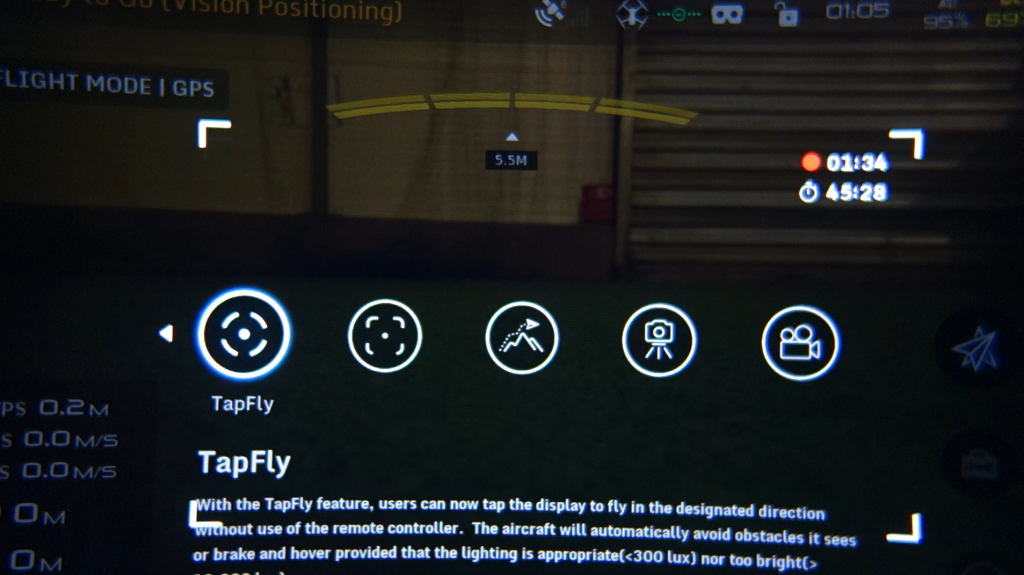 Modes de vol DJI Goggles