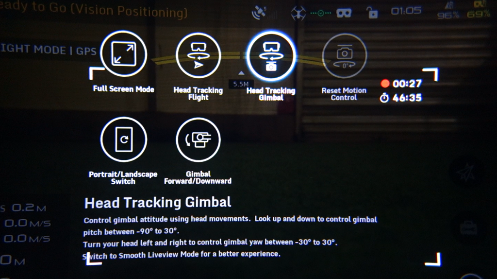 Mode Head Tracking Gimbal