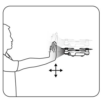 DJI Spark piloter par les gestes