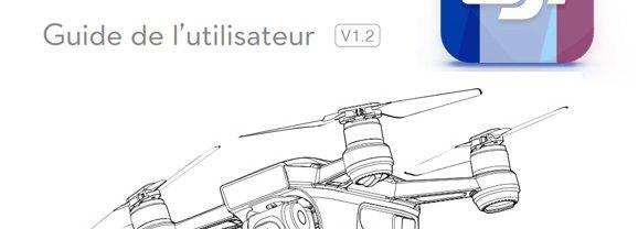 DJI Spark la notice complète en français est disponible !