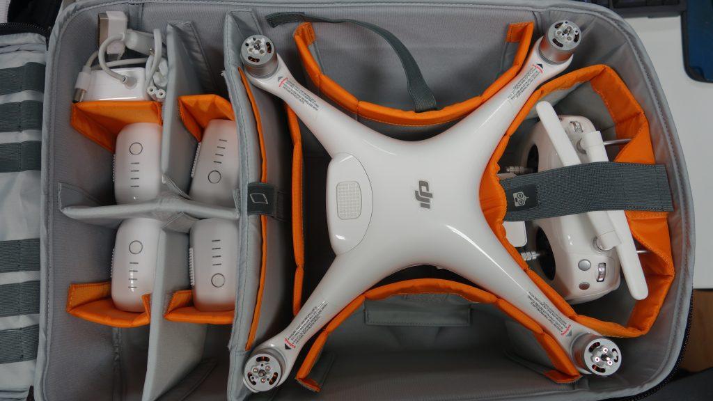 Sac Lowepro Droneguard BP 400 en test avec un DJI Phantom 4