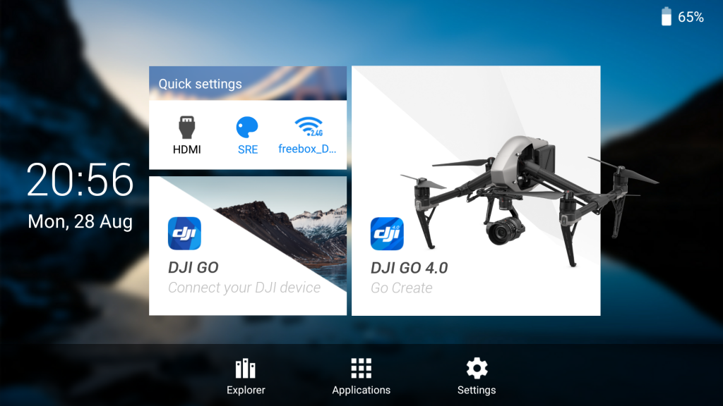 Crystalsky homepage application DJI Go