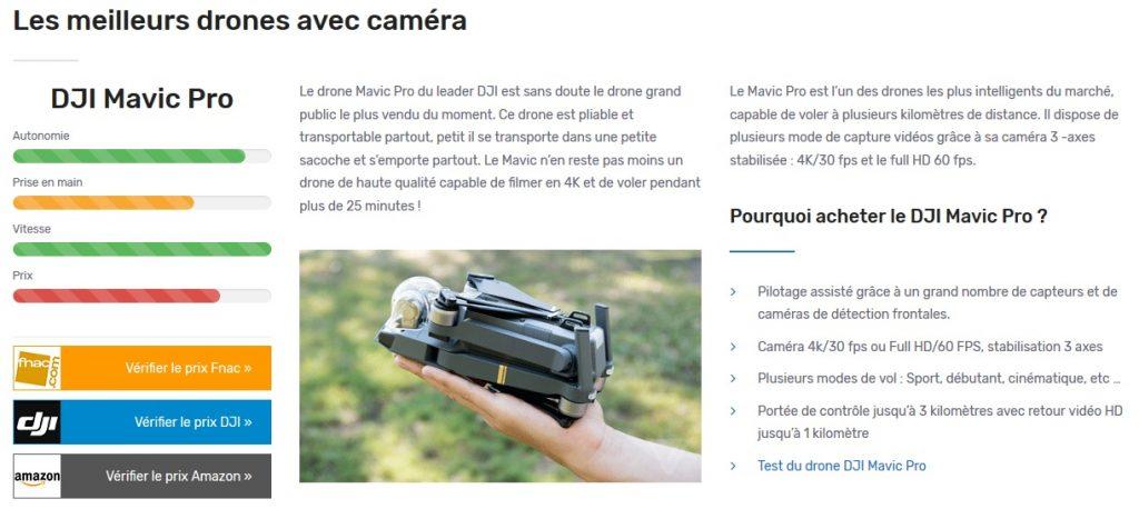 Exemple de review pour leDJI Mavic Pro