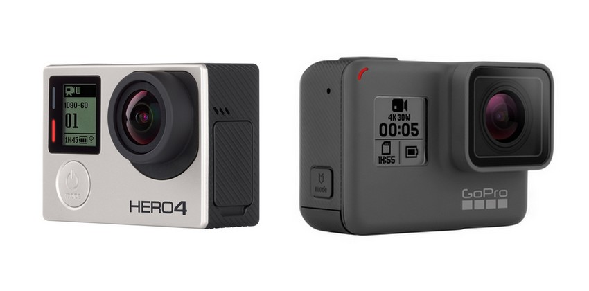 Comparatif caractéristiques GoPro Hero 4 Silver et GoPro Hero 5 Black
