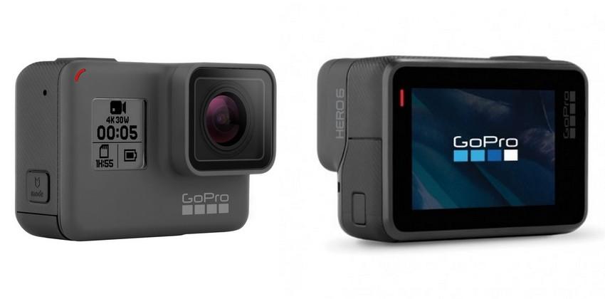 Comparatif caractéristiques GoPro Hero 5 Black et GoPro Hero 6