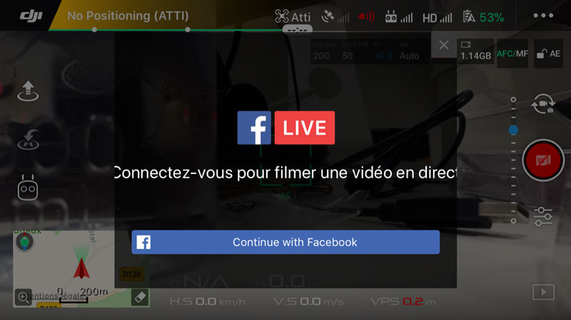 DJI Live Facebook