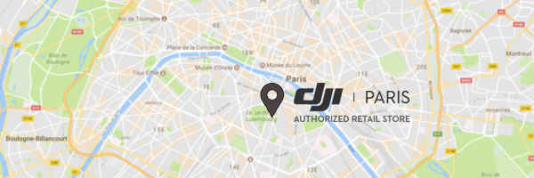 Carte DJI Store Paris