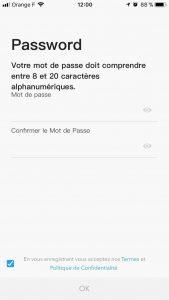 DJI Go inscription mot de passe
