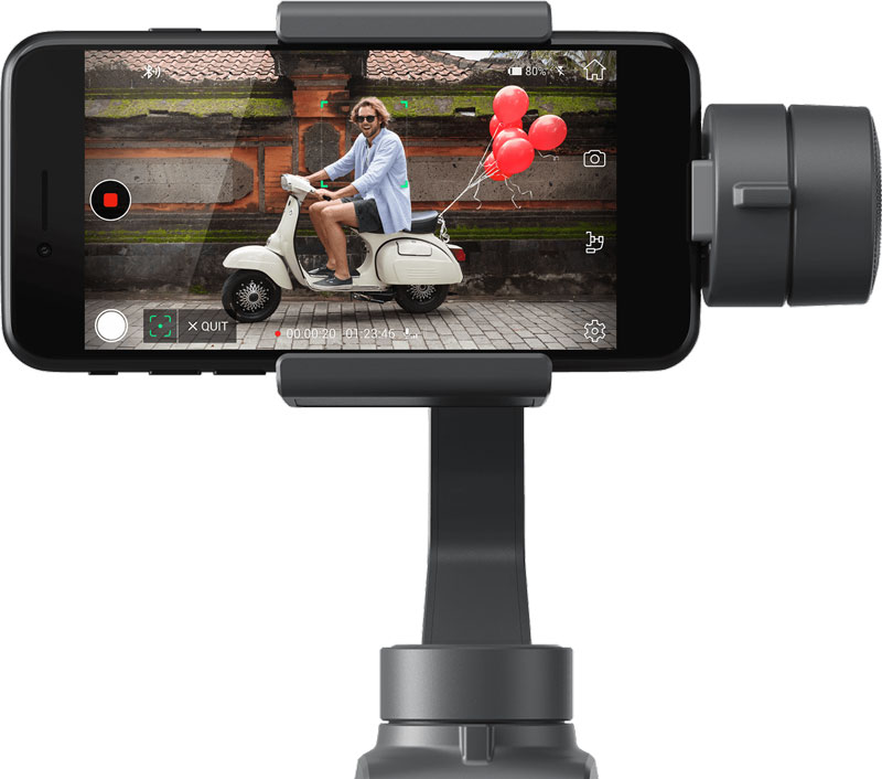 ActiveTrack avec un DJI Osmo Mobile 2