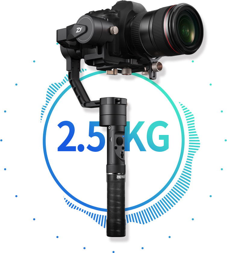 Zhiyun Crane Plus jusqu'à 2,5Kg