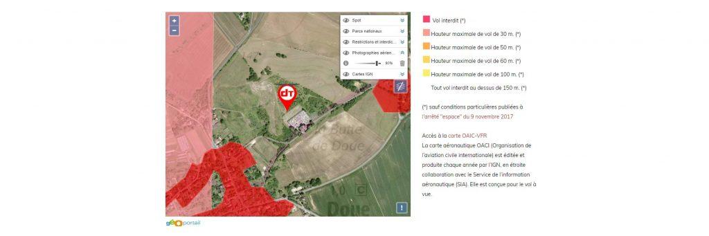 Calques pour les informations de vol de drone