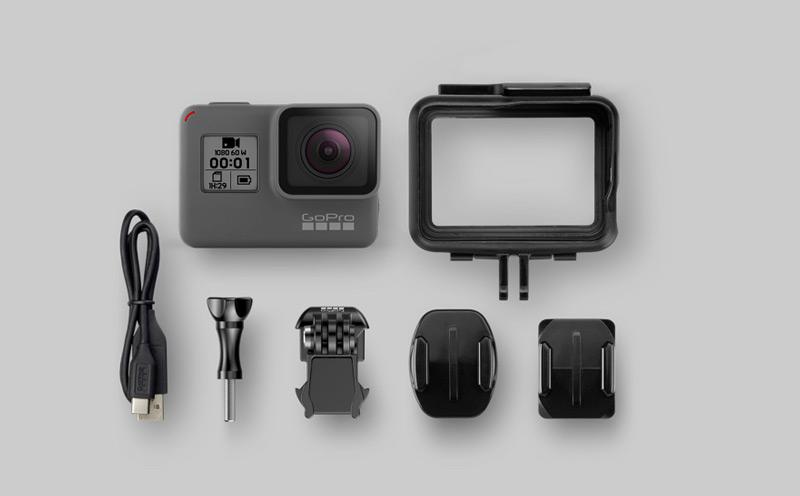 GoPro HEro accessoires fournis